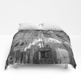 St Patrick's Cathedral New York Art Comforters