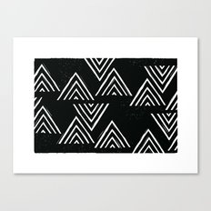 The Mountain Top - in Black Canvas Print