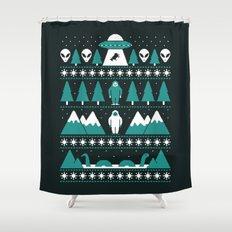 Paranormal Xmas Shower Curtain