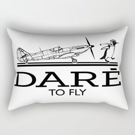 Dare To Fly Vintage Rectangular Pillow