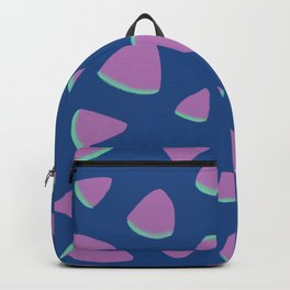 Abstract Graphic Pattern | Blue | Pink | Green Backpack