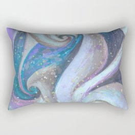 Swirl (blue and purple) Rectangular Pillow