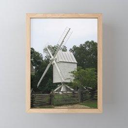White Mill - Colonial Williamsburg Framed Mini Art Print