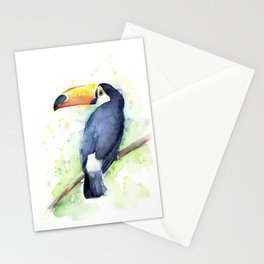 Toucan Tropical Bird Watercolor Stationery Cards