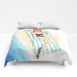 Red Haired Bouffant Beach Blanket Bombshell Comforters