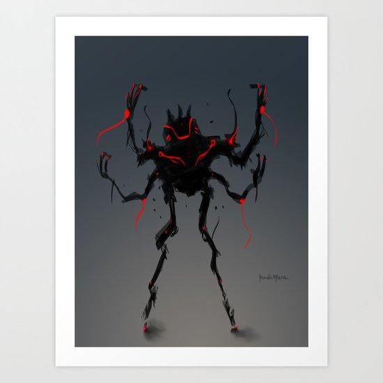 Red Clan Quadleaper Art Print