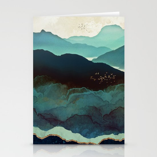 Indigo Mountains Stationery Cards