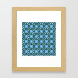Round Truchets in MWY 01 Framed Art Print