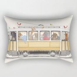 a city adventure Rectangular Pillow