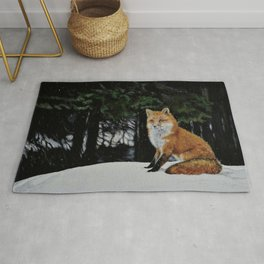 Red Fox of Algonquin by Teresa Thompson Rug