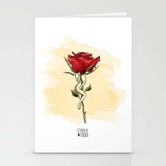 Rose body Stationery Cards