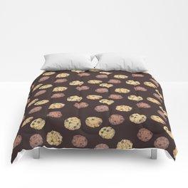 cookies pattern_brown Comforters