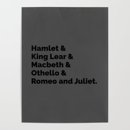 Shakespeare Plays II Poster
