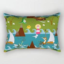 Nautical kids dream Rectangular Pillow