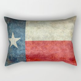 Texas State Flag, Retro Style Rectangular Pillow