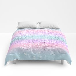 Unicorn Girls Glitter #11 #shiny #pastel #decor #art #society6 Comforters