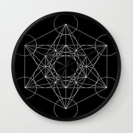 Sacred Geometry : Metatron's Cube / The Map of Creation Wall Clock