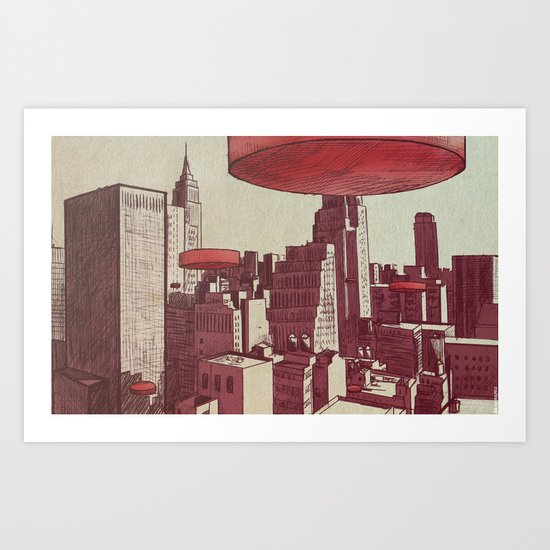 Invaders Points Art Print