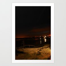 Jetty in the Sand Art Print