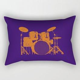 Vintage Drummer Drums Distressed Rectangular Pillow