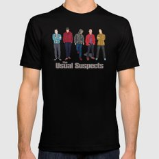 The Usual Suspect casual fashion style Mens Fitted Tee MEDIUM Black
