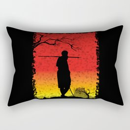 The African Warrior Rectangular Pillow