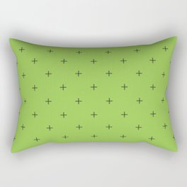 Crosses on Avocado Rectangular Pillow