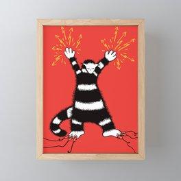 Weird Electro Cat Framed Mini Art Print