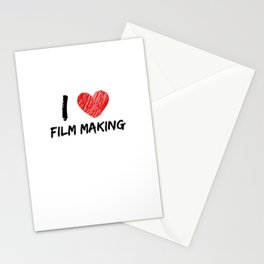 I Love Film Making Stationery Cards