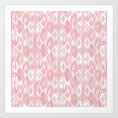Harlequin Marble Mix Blush Art Print