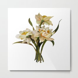 Double Narcissi Spring Flower Bouquet Metal Print