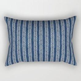 Mud cloth - Navy Arrowheads Rectangular Pillow