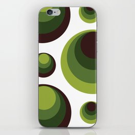 Back To The 70's In Green iPhone Skin