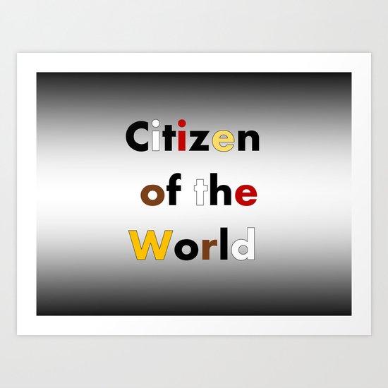 Citizen of the World Art Print