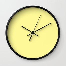 Simply Pastel Yellow Wall Clock