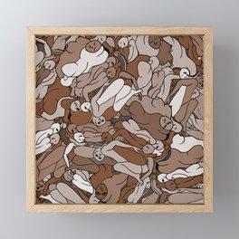 Chocolate Coffee Body Slugs Framed Mini Art Print