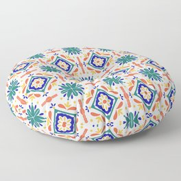 Moroccan Tiles Floor Pillow