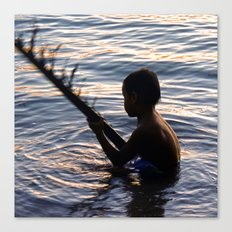 THAILAND - Koh Pangan | Travel | Sea | Children | Nature | Ocean | Dusk | Summer | Photography  Canvas Print
