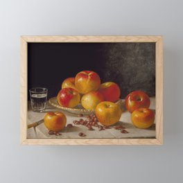 Still Life, Apples and Chestnuts Framed Mini Art Print