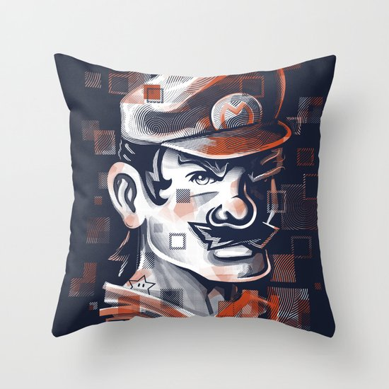 Depixelization M Throw Pillow