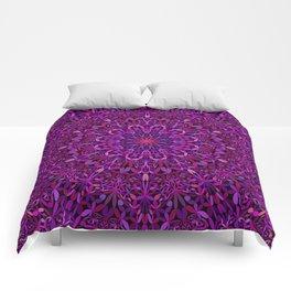 Pretty Purple Mandala Garden Comforters