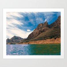 Canyon Waters Art Print