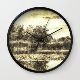 Lilly Pond Vintage Wall Clock