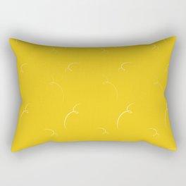 Mustard Yellow Pattern Rectangular Pillow