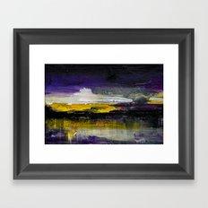 Purple Abstract Landscape Framed Art Print