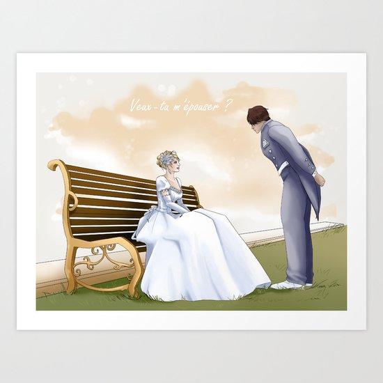 Demande en mariage Art Print