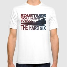 Hard Six White X-LARGE Mens Fitted Tee
