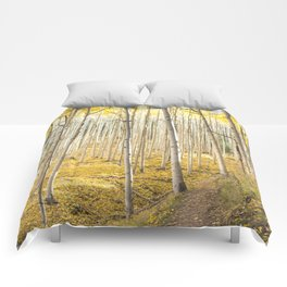 Fall Colors, Yellow Woods Comforters