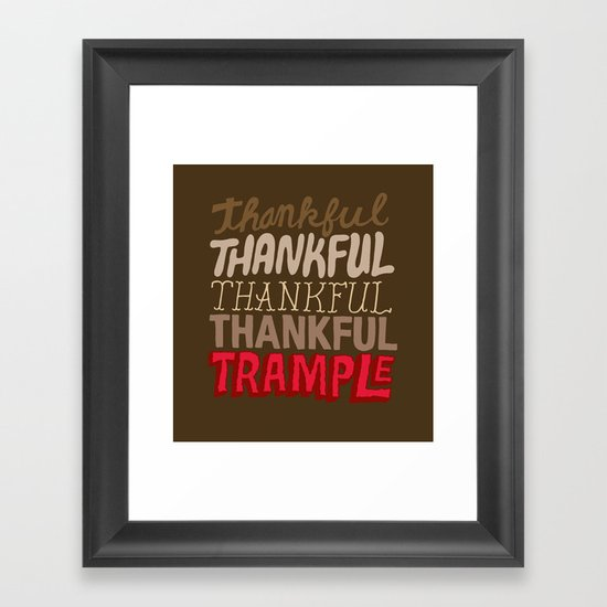 Thanksgiving, Black Friday Framed Art Print
