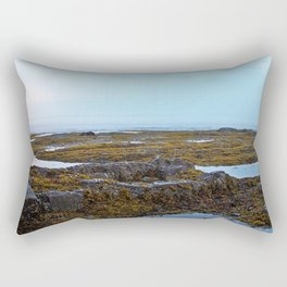 Tidal Shelf and the Fog Rectangular Pillow